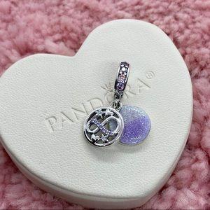 Glittering Infinity Hearts & Stars Dangle Charm
